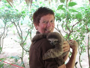 TC & a baby sloth