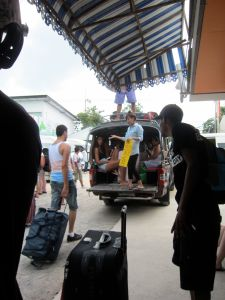 Cab hawker at Big Buddha Ferry