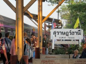 Surat Thani Train Station, chaos!