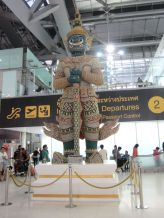 Statue at the Bangkok Airport.