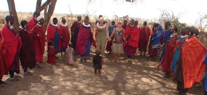 Kerry & TC hanging with the Masai