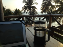 My office. I know, it is tough sometimes to be a traveller. :)