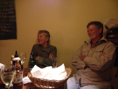 Pat and Mandy Retzlaff at my last dinner.