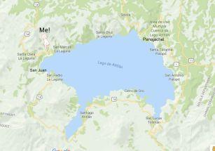 Map of Lake Atitlan