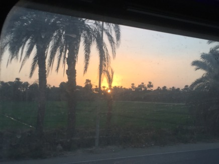 Sunset pulling into Luxor